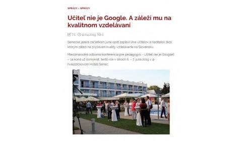 rodinka.sk 12.4.2019 – Učiteľ nie je Google. A záleží mu na kvalitnom vzdelávaní