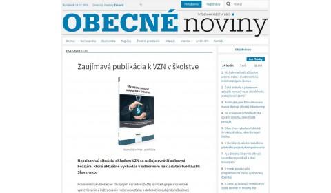 Zaujímavá publikácia k VZN v školstve