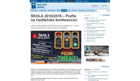 ŠKOLA 2018/2019 – Poďte s RAABE na riaditeľskú konferenciu!
