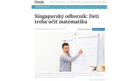 www.pravda.sk – 30.11.2019: Singapurský odborník: Deti treba učiť matematiku