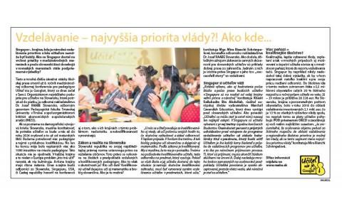 Hospodárske noviny – 6.6.2019: Vzdelávanie – najvyššia priorita vlády?!