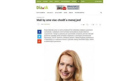 dia.hnonline.sk – 14. 2. 2018: Mali by sme viac chodiť a menej jesť