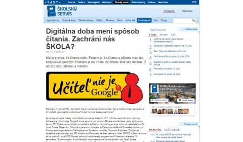 skolskyservis.sk – 7. 6. 2018: Digitálna doba mení spôsob čítania. Zachráni nás ŠKOLA?