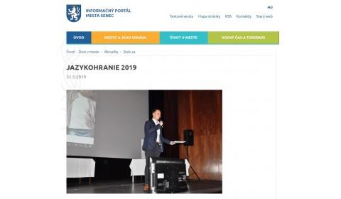www.senec.sk – 31.5.2019: JAZYKOHRANIE 2019