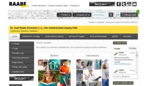 RAABE má nový WEB aj e-shop pre lekárov