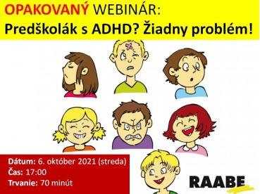 PREDŠKOLÁK S ADHD? ŽIADNY PROBLÉM! | 06.10.2021