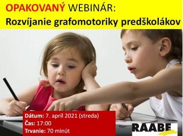 ROZVÍJANIE GRAFOMOTORIKY PREDŠKOLÁKOV | 07.04.2021