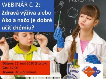 Zdravá výživa alebo Ako a načo je dobré učiť chémiu? | 21.05.2020