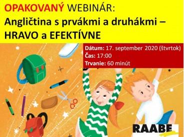 ANGLIČTINA S PRVÁKMI A DRUHÁKMI – HRAVO A EFEKTÍVNE | 17.09.2020