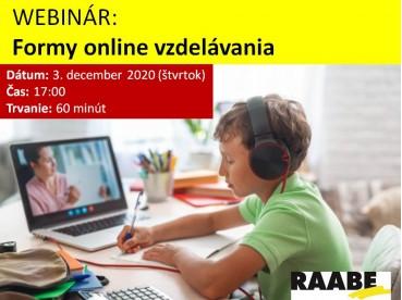 Formy online vzdelávania | 03.12.2020