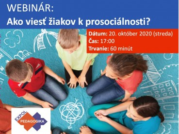 Ako viesť žiakov k prosociálnosti? | 20.10.2020