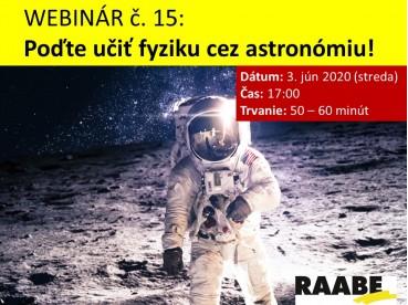 Poďte učiť fyziku cez astronómiu! | 08.06.2020