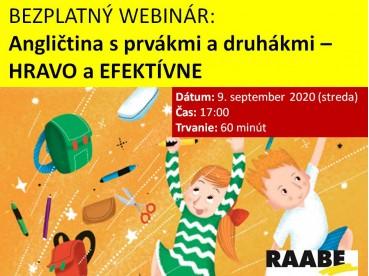 ANGLIČTINA S PRVÁKMI A DRUHÁKMI – HRAVO A EFEKTÍVNE | 09.09.2020