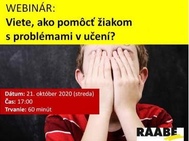 Viete, ako pomôcť žiakom s problémami v učení? | 21.10.2020