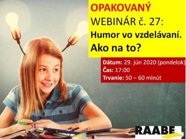 Humor vo vzdelávaní. Ako na to? | 29.06.2020