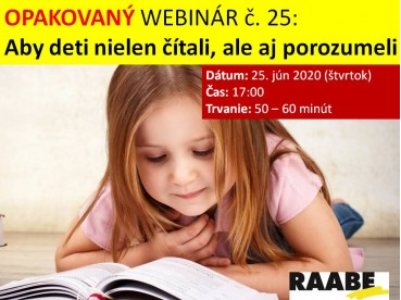 Aby deti nielen čítali, ale aj porozumeli | 25.06.2020
