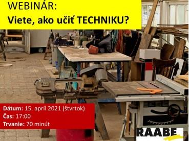 VIETE, AKO UČIŤ TECHNIKU? | 15.04.2020