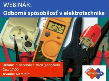 Odborná spôsobilosť v elektrotechnike | 07.12.2020