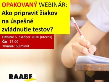Ako pripraviť žiakov na úspešné zvládnutie testov? | 06.10.2020