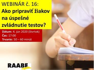 Ako pripraviť žiakov na úspešné zvládnutie testov? | 04.06.2020
