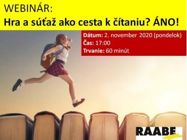 Hra a súťaž ako cesta k čítaniu? ÁNO!   02.11.2020