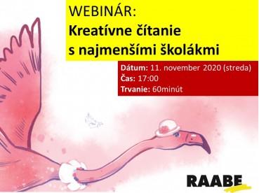 Kreatívne čítanie s najmenšími školákmi    11.11.2020