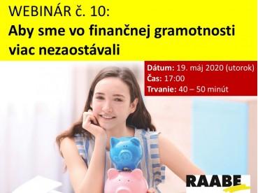 Aby sme viac vo finančnej gramotnosti nezaostávali | 19.05.2020