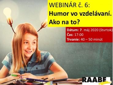 Humor vo vzdelávaní. Ako na to? | 07.05.2020
