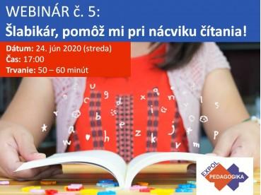Šlabikár, pomôž mi pri nácviku čítania!   24.06.2020