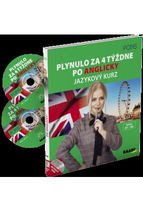 PLYNULO ZA 4 TÝŽDNE PO ANGLICKY / JAZYKOVÝ KURZ + 2 CD