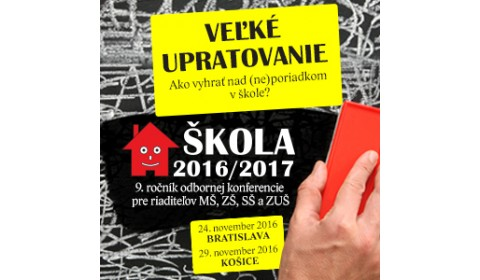 TS Riaditelia škôl dnes na Slovensku upratujú vo veľkom