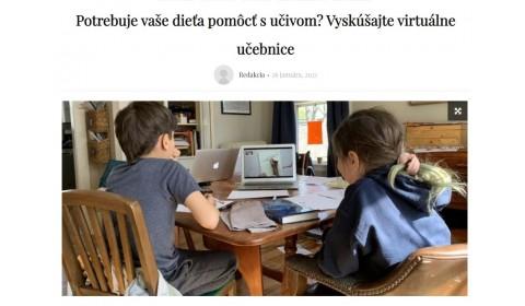 akcnezeny.sk – 26.1.2021: Potrebuje vaše dieťa pomôcť s učivom? Vyskúšajte virtuálne učebnice