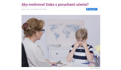 sdetmi.com – 12.3.2021: Ako motivovať žiaka s poruchami učenia?