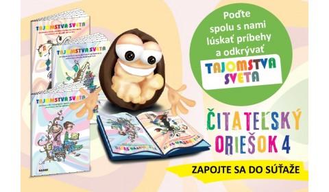 TS Štartuje štvrtý ročník celoslovenskej súťaže Čitateľský oriešok