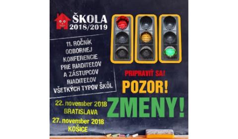 ŠKOLA 2018/2019 – Poďte na riaditeľskú konferenciu!