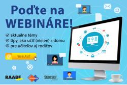 Štyri nové bezplatné webináre pre učiteľov