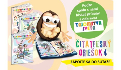 Štartuje štvrtý ročník celoslovenskej súťaže Čitateľský oriešok