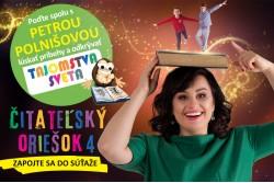 Petra Polnišová ambasádorkou súťaže Čitateľský oriešok 4
