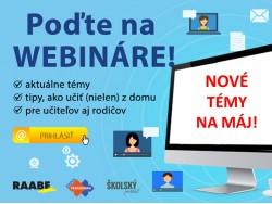 Nové témy RAABE webinárov na ďalší týždeň