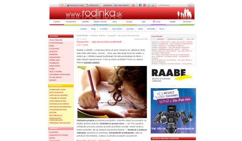 rodinka.sk – 4. 11. 2014: Dysgrafia – aby písmenká poslúchali