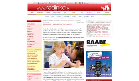rodinka.sk – 18. 11. 2014: Dyskalkúlia – ako zvládnuť matematiku?