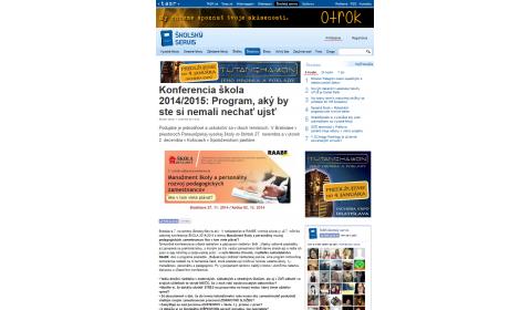 TASR – 7. 11. 2014: Program, aký by ste si nemali nechať ujsť