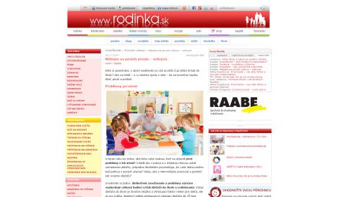 rodinka.sk – 4. 11. 2014: Nebojte sa porúch učenia – nehryzú