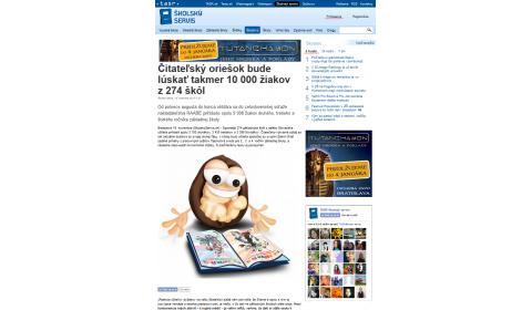 TASR – 19. 11. 2014: Čitateľský oriešok bude lúskať takmer 10 000 žiakov z 274 škôl!