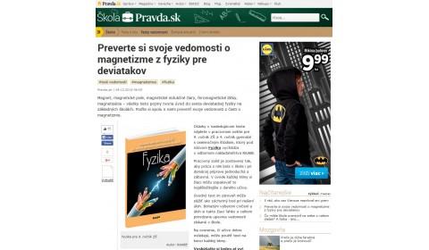 pravda.sk – 4. 12. 2015: Preverte si svoje vedomosti o magnetizme z fyziky pre deviatakov