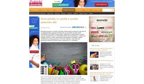 zenskyweb.sk – 9. 12. 2015:    Nové spôsoby vo výučbe a využitie potenciálu detí