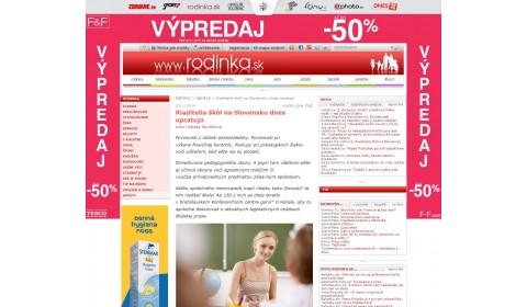 rodinka.sk – 24. 11. 2016: Riaditelia škôl na Slovensku dnes upratujú