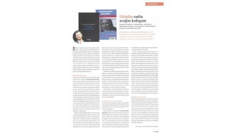 Knižná revue – 16. 11. 2016: Učitelia radia svojim kolegom