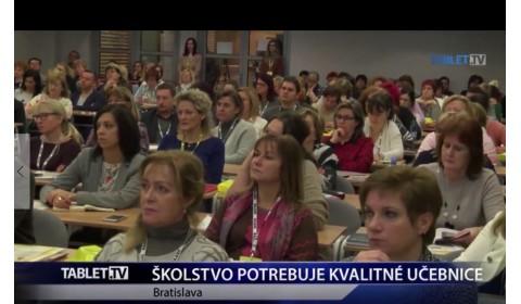 TABLET.TV – 28. 11. 2016: Školstvo potrebuje kvalitné učebnice