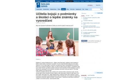 skolskyservis.sk – 27. 1. 2016: Učitelia bojujú o podmienky a školáci o lepšie známky na vysvedčení